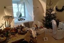 Vánoční výzdoba na zámku.