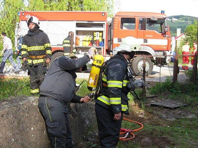 Požár v Rubenském bunkru.