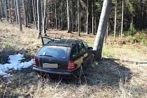 Zběsilá jízda skončila nárazem do stromu.