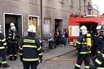 Požár v Polici nad Metují.