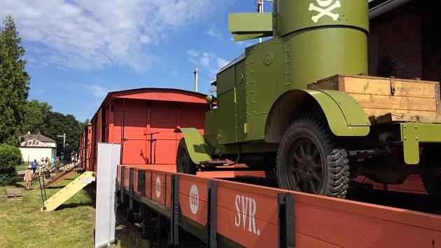 Unikátní Legiovlak byl nedávno k vidění na nádraží v Jaroměři.