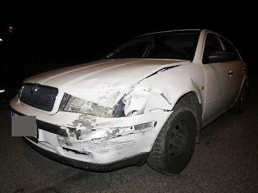 Dopravní nehoda dvou osobních automobilů vJaroměři.