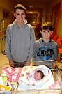 NATÁLIE ZÁVESKÁ ze Slotova vykoukla na svět 19. října 2017 ve 13.02 hodin. Její míry byly 3030 gramů a 48 centimetrů. Z holčičky se radují rodiče Renata a Pavel i bráškové Patrik (16 let) a Pavel (11 let).