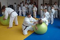 PRO SPRÁVNÝ nácvik technik využívají trenéři náchodského SKP Judo celé řady různých cvičebních pomůcek.