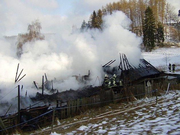 První lednovou neděli v novém roce 2010 lehla popelem salaš v obci Bělý na Machovsku, ve které bydlela spolu se svými zvířaty i starší žena.