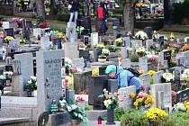 Hřbitov v Náchodě ve Starém Městě.