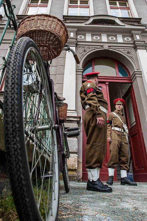 Natáčení historického filmu Odplata v Jaroměři.