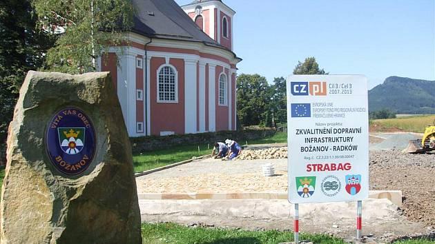 Nová cesta propojí Božanov s rekreačním areálem Zalew v polském Radkówe.