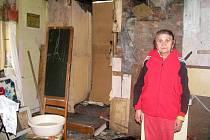 Vyhořelý dům paní Alžběty Morové.