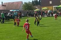 PREMIÉROVÝ ročník Nufra Cupu vyhráli mladí fotbalisté Velké Jesenice (v červeném).