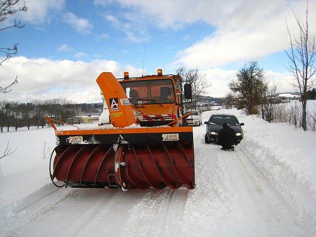 Sněhová kalamita na Náchodsku.