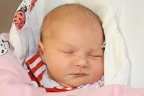 EVELÍNA TOLAROVIČOVÁ se narodila 8. ledna 2014 v 16:46 hodin s váhou 3340 gramů a délkou 49 centimetrů. S rodiči Kristýnou Šaravcovou a Martinem Tolarovičem mají domov v Dobrušce.