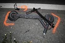 Noční jízda na koloběžce skončila nehodou. Ilustrační foto