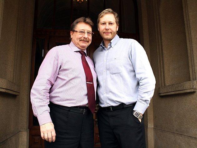 PROVOZUJÍ BERÁNEK, otec a syn Roman a Roman Rajští.