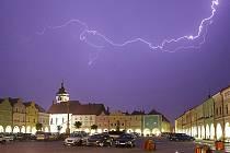 Hromy a blesky nad Novým Městem nad Metují.
