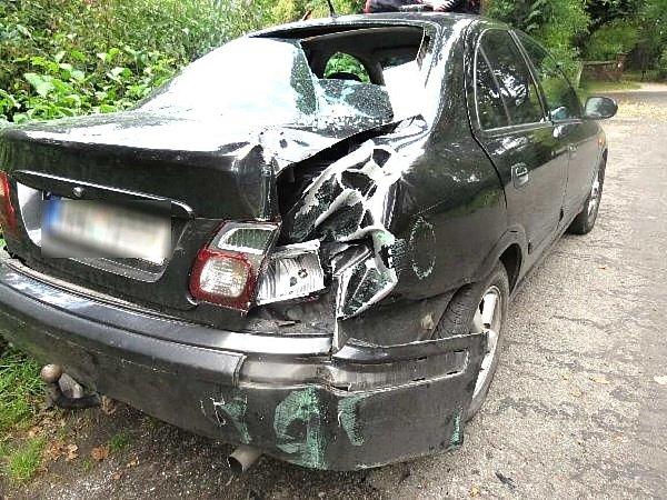 Nabouraný vůz.