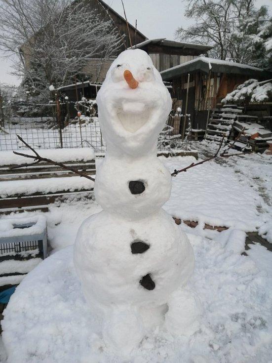 Sněhulák Olaf Jitky Hofmanové ze Zájezda.