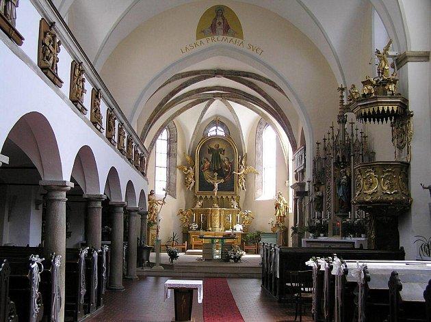 Kostel svatého Vavřince.