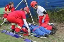 U přehrady Rozkoš cvičně zasahovaly záchranářské týmy z Čech i Slovenska.