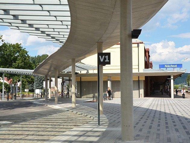 Nový autobusový terminál v Náchodě.