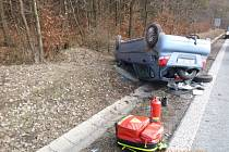 Havárie osobního automobilu v Pěkově.