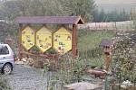 Na včelí farmě.