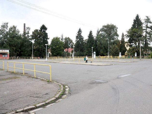 Autobusové nádraží v Broumově.