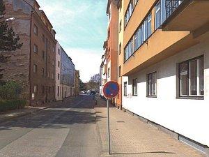 Palachova ulice v Náchodě.