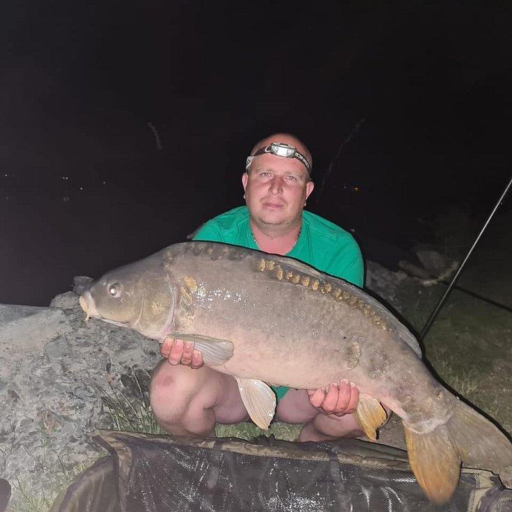 Fotografie z rybaření na Rozkoši od Pavla Krause z Trutnova.