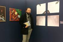 U vystavených prací na výstavě Náchodský výtvarný podzim v Galerii výtvarného umění v Náchodě v roce 2019.