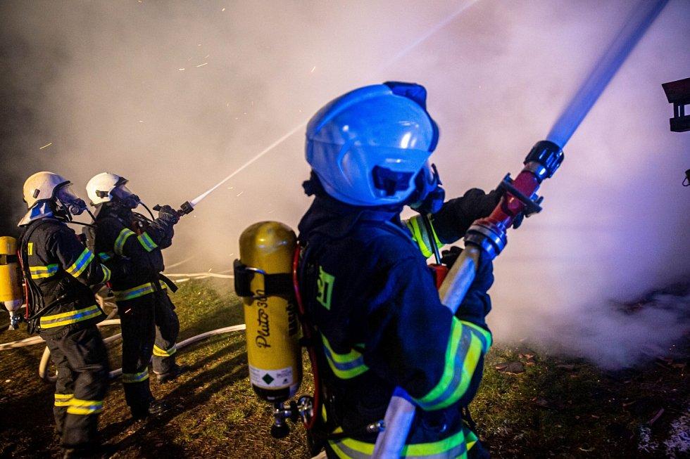 Požár stavení v Jasenné na Náchodsku