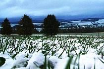 Okolí Ostaše v zimě.