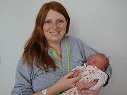 JOSEFÍNA JONEŠOVÁ z Přibyslavi je prvním potomkem Radky a Josefa. Holčička se narodila 30. ledna 2017 v 16.41 hodin, vážila 3650 gramů a měřila 50 centimetrů.