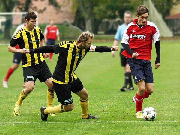 Jediný gól Nového Města na půdě Kratonoh měl na svědomí Martin Klikar (včerveném).