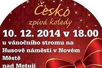 Česko zpívá koledy v Novém Městě nad Metují.