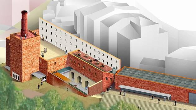 Studie na přebudování pivovaru podle architekta Pavla Rydla.