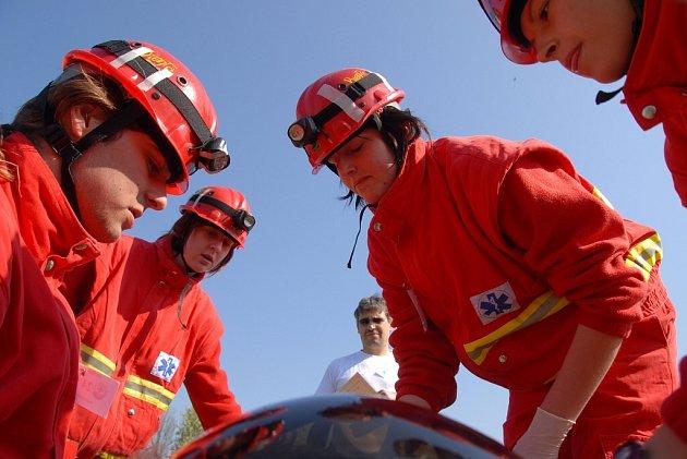 Rescue - cvičení záchranářů na Rozkoši.