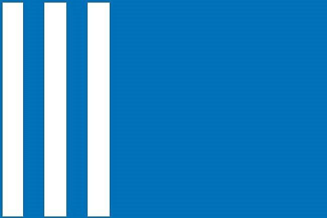 Návrh vlajky pro město Hronov (č. 5).