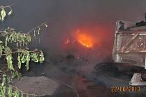 Požár sena v Dolních Teplicích.