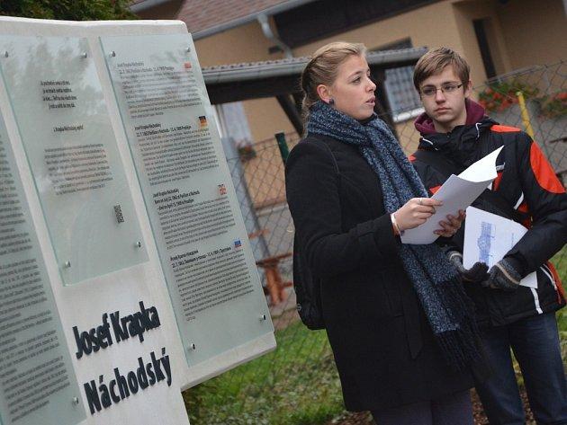 Obnovený památník Josefa Krapky Náchodského na Pavlišově.