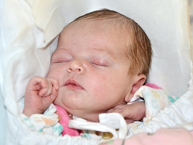 NELA HRÁBKOVÁ z Broumova se narodila 21. září 2015 ve 20.49 hodin rodičům Marcele Jetelové a Martinu Hrábkovi. Holčička vážila 3025 g a měřila 49 cm. Doma má čtyřletou sestřičku Viktorku.