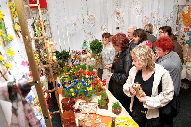 Na velikonoční výstavě v Justynce byla spousta drobností na vyzdobení domácností před blížícím se svátkem.