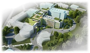 Vizualizace nových pavilonů náchodské nemocnice