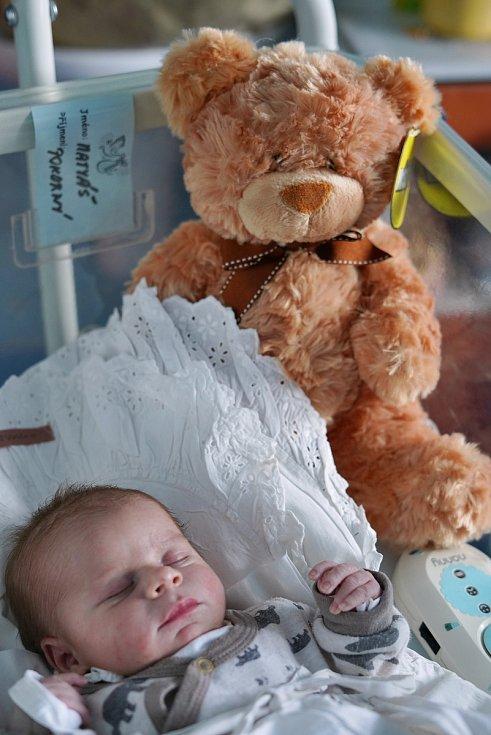 Matyáš Pokorný z Náchoda poprvé vykoukl na svět 3. února 2020 v 16:57 hodin. Chlapeček vážil 3270 g a měřil 49 cm. Z prvního potomka se radují maminka Blanka a tatínek Dominik.