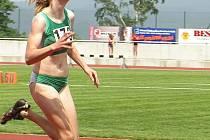 Nová akvizice  Michaela Drábková, která po pár týdnech rozkoukávání v atletice získala bronz.