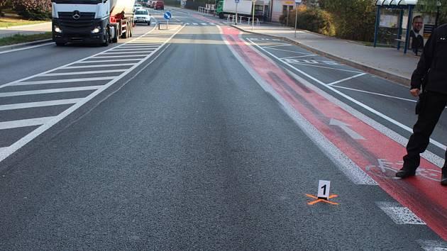 Na fotografiích je zachyceno místo, kde k nehodě došlo.