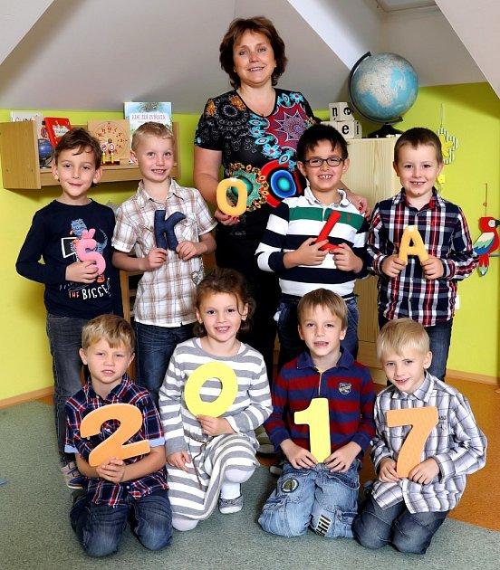 Žáci 1.třídy ze ZŠ Dolní Radechová