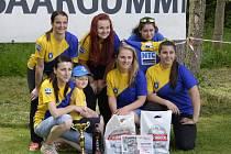 VÍTĚZNÉ družstvo žen Kramolny NTC.