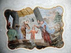 BROUMOVSKÝ BENEDIKTINSKÝ KLÁŠTER zdobí zrestaurované fresky, které jsou unikátním dílem starých mistrů.