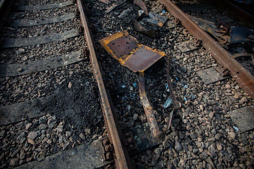 Požár historických vagonu v železničním muzeu Výtopna Jaroměř způsobil škodu přes 80mil.